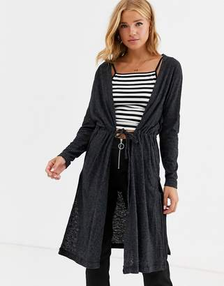 Cotton On Cotton:On Mila longline knit cardigan-Black