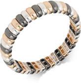 Nine West Tri-Tone Bar Link Stretch Bracelet