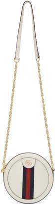 Gucci White Mini Ophidia Round Shoulder Bag