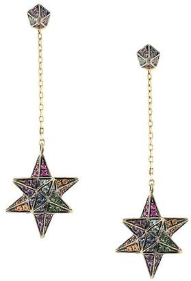 Noor Fares Rainbow Merkbana drop earrings