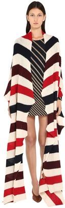 Missoni Striped Wool Knit Maxi Shawl