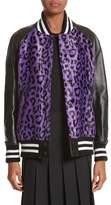 Junya Watanabe Women's Cheetah Print Faux Fur & Leather Track Jacket