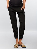 A Pea in the Pod Monrow Under Belly Crepe Straight Leg Maternity Pants