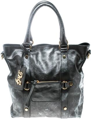 Dolce & Gabbana Metallic Grey Leather Golden Box Messenger Bag