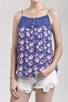 Blu Pepper Floral Crochet Top