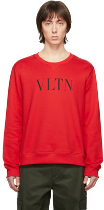Valentino Red and Black VLTN Sweatshirt