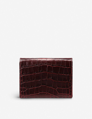 Smythson Mara leather bridge card case
