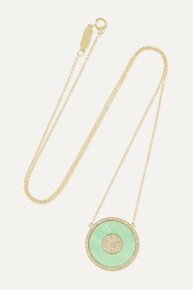 Jennifer Meyer Evil Eye 18-karat Gold, Turquoise And Diamond Necklace