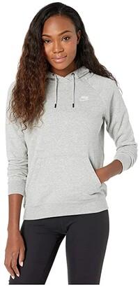 Nike NSW Essential Hoodie Pullover Fleece (Black/White) Women's Sweatshirt