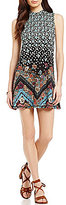 O'Neill Lennon Floral-Printed Mock Neck Knit Shift Dress