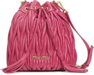 Miu Miu Small Matelasse Leather Bucket Bag