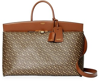 Burberry Extra-Large Society Monogram Top Handle Bag