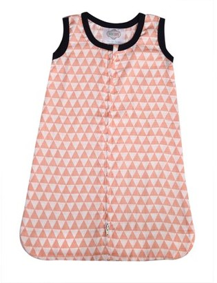 Bacati Olivia Tribal Coral Triangles 100% Cotton breathable Muslin Sleep Sack, Small