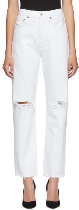 AGOLDE White 90s Loose Fit Jeans