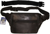 "AG Jeans A&G Wallets Biker's Leather Fanny Pack Pouch With 18"" Extension"