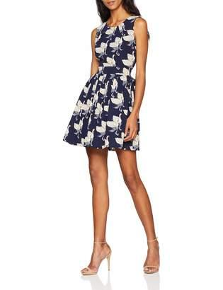 Yumi Women's Twin Swan Print Dress