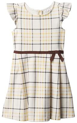 Janie and Jack Plaid Ponte Dress (Toddler/Little Kids/Big Kids) (Multi) Girl's Dress