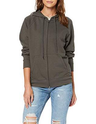 Fruit of the Loom Women's Zip front Lightweight Hooded Sweat, Light Graphite, 10 (Manufacturer Size:)