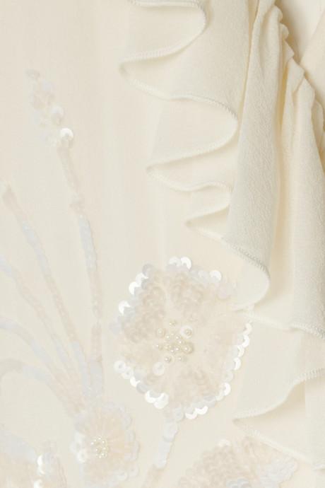 Matthew Williamson Embellished cutout silk-chiffon gown