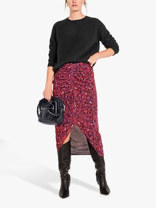 Hush Martella Floral Midi Skirt, Pink