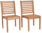 Amazonia Stackable Patio Chair Set without Arms (Set of 2)