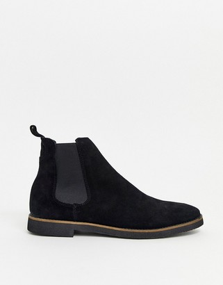 Walk London hornchurch chelsea boots in black suede