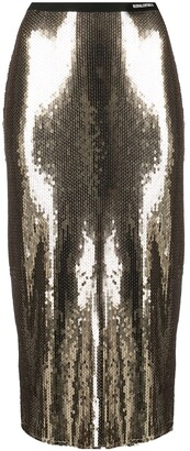 RED Valentino Sequinned Pencil Skirt