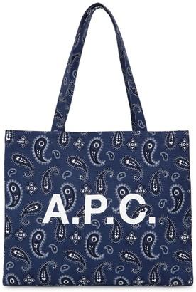 A.P.C. Bandana Printed Cotton Tote Bag