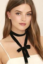 LuLu*s Special Gift Black Velvet Wrap Necklace
