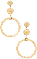 Elizabeth Cole Drop Earrings in Metallic Gold.
