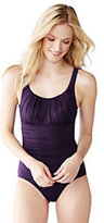 Classic Women's Petite Slender Scoop One Piece Swimsuit-Bright Iris