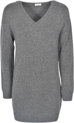 Saint Laurent V-Neck Sweater Dress