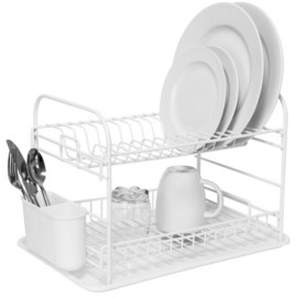 Kitchen Details Convertible 2 Tier Dish Rack