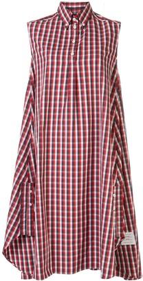 Thom Browne Sleeveless Check Shirt Dress