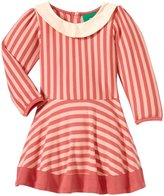 Little Green Radicals Stripes Forever Dress (Baby) - Pink-6-9 Months
