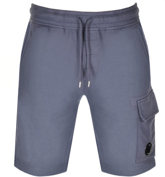 C.P. Company Logo Sweat Shorts Blue