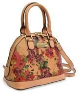 Adrienne Vittadini Mini Floral Dome Satchel.