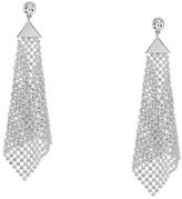 GUESS Crystal Mesh Drop Earrings (Silver) Earring