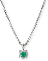 David Yurman Petite Albion Pendant with Semiprecious Stone and Diamonds on Chain