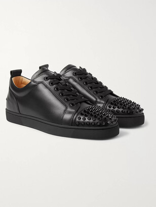 Christian Louboutin Louis Junior Spikes Cap-Toe Suede Sneakers