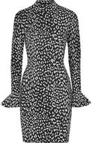 MICHAEL Michael Kors Metallic Jacquard-knit Mini Dress - Silver
