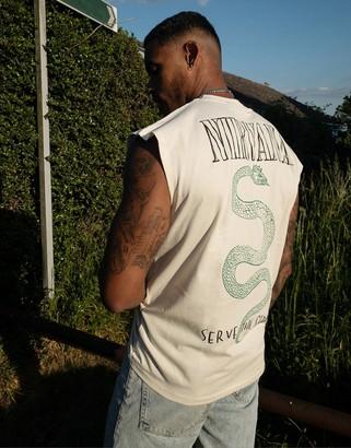 ASOS DESIGN Nirvana oversized sleeveless t-shirt with back print