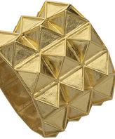 Gold Triple Pyramid Cuff