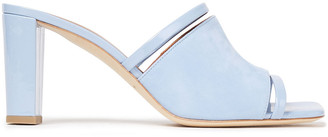 Malone Souliers Demi 70 Patent-leather And Suede Mules