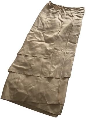 Base Range Ecru Silk Skirts