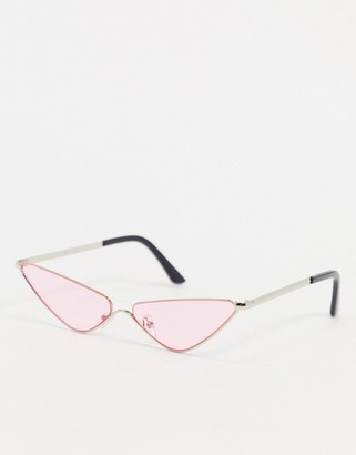 A. J. Morgan AJ Morgan Fly Trap extreme cat eye sunglasses in pink