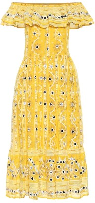 Juliet Dunn Exclusive to Mytheresa a Embellished cotton dress