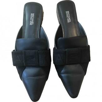 Michael Kors Black Leather Mules & Clogs