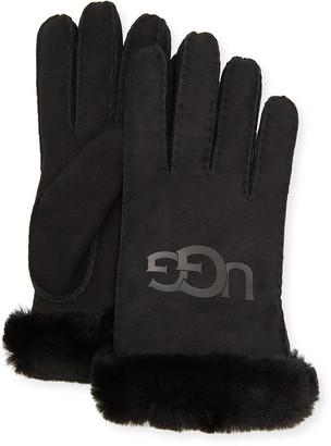 UGG Sheepskin Logo Gloves