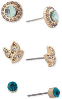 lonna & lilly Gold-Tone 3-Pc. Set Crystal Stud Earrings